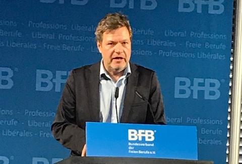 """Dr. Robert Habeck betont beim BFB-Neujahrsempfang: """"Regeln fundamental für freiheitliche Gesellschaft"""""""